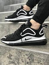 Мужские кроссовки  реплика NIKE 720 цвет черно-белые