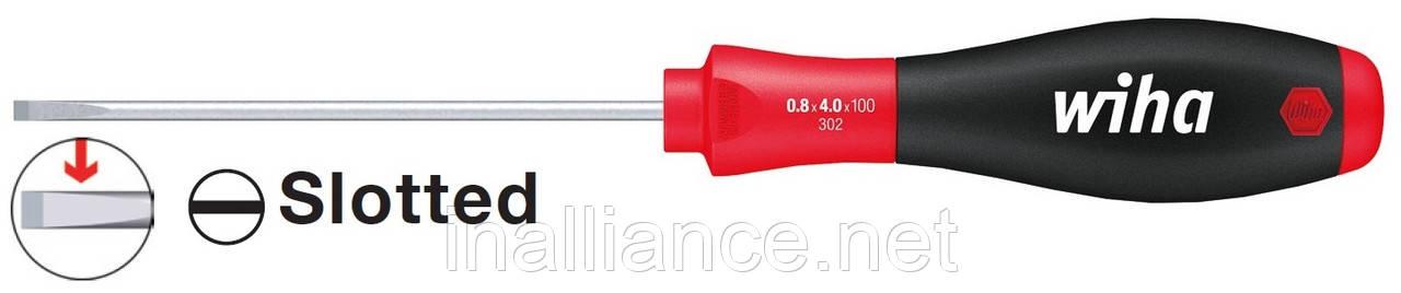 Шлицевая отвертка SL 5,5 х 125 мм для электриков круглое жало SoftFinish Wiha 00698