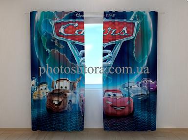 """Фотошторы """"Тачки 2"""" 250 х 260 см фото штори с рисунком шторы в детскую"""
