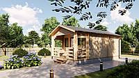 Дом деревянный сборный из профилированного бруса 7,1х4,4 м
