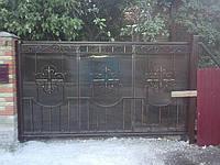 ворота автоматические(откатные) кованые 9