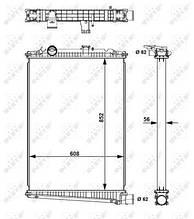 Радиатор DAF CF 509616 (NRF)