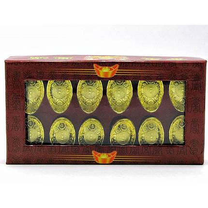 Чаша богатства золотая (н-р 12 шт)(14х8х2,5 см) ( 18436), фото 2