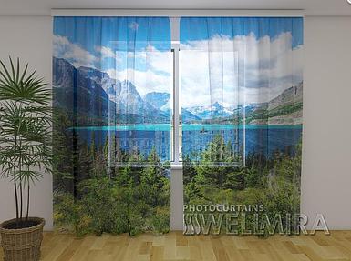 ФотоТюль Озеро Св.Марии 250 см х 260 см фото тюль с рисунком пейзаж