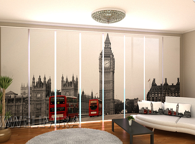 """Панельная фото штора """"Просто Лондон"""" 480 х 240 см"""