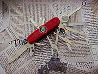 Многофункциональный складной нож Тотем K5017BL для туризма и активного отдыха. Чехол в комплекте