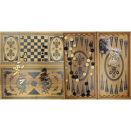 Нарды+шахматы из бамбука (60х30х4 см) (6030-C) (22750), фото 2