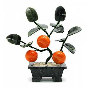 Дерево мандарин (3 плода)(18х19х7 см) ( 18594)