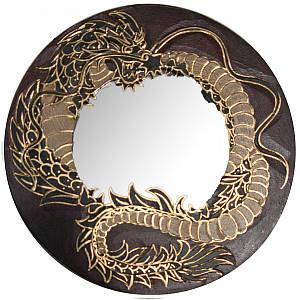 """Зеркало мозаичное """"Дракон"""" красный (d-30 cм) ( 30260)"""