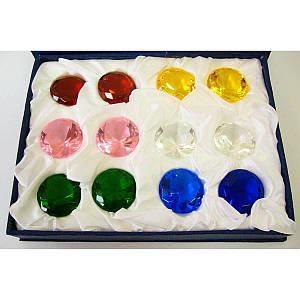 Кристаллы хрусталь (н-р 12 шт)(d-3 см упаковка 18х14х4 см)) ( 22248)