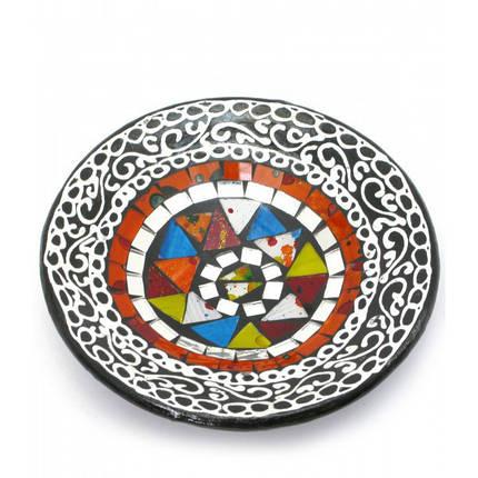 Блюдо терракотовое с мозаикой (d-14,5 см h-4,5 см) ( 29685), фото 2