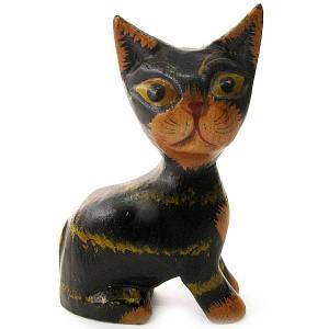"""Статуэтка деревянная """"Кот"""" (10 см) (Индонезия) ( 19067)"""
