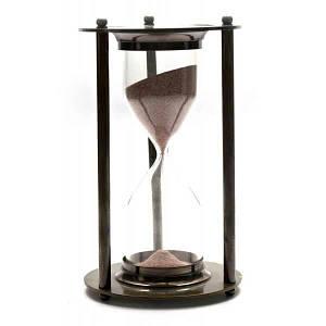Часы песочные бронза (14,5х7х7 см) ( 26565)