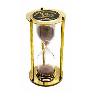 Часы песочные бронза 3 минуты (16,5х9х9 см) ( 26593)