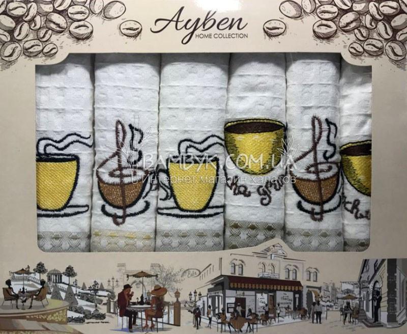 Рушники для кухні 45x70 (6 шт) вафельні Ayben
