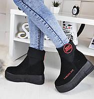 Ботинки Liang Bu Best (красная надпись)