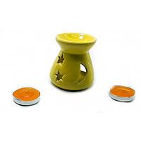 Аромалампа подарочный набор желтая 12,5х8х7см  (32389A)