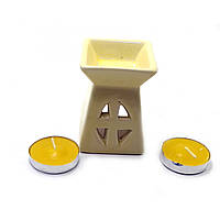 Аромалампа подарочный набор желтая 12х8,5х7см  (32391A)