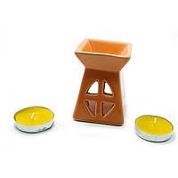 Аромалампа подарочный набор оранжевая 12х8,5х7см  (32391B)