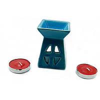Аромалампа подарочный набор синяя 12х8,5х7см  (32391D)