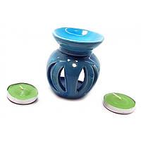 Аромалампа подарочный набор синяя 12х8х7см  (32390E)