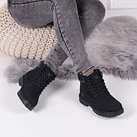 Ботинки зимние тимберленд черные  код 22349, фото 1