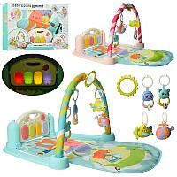 Игровой развивающий коврик с игрушками для детей