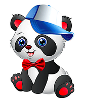 "Вырубка большая ""Панда"" 47х36см"