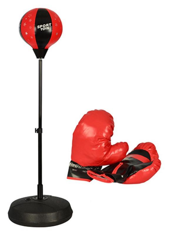 Детский боксерский набор на стойке (груша напольная с перчатками для детей)