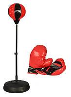Детский боксерский набор на стойке (груша напольная с перчатками для детей), фото 1