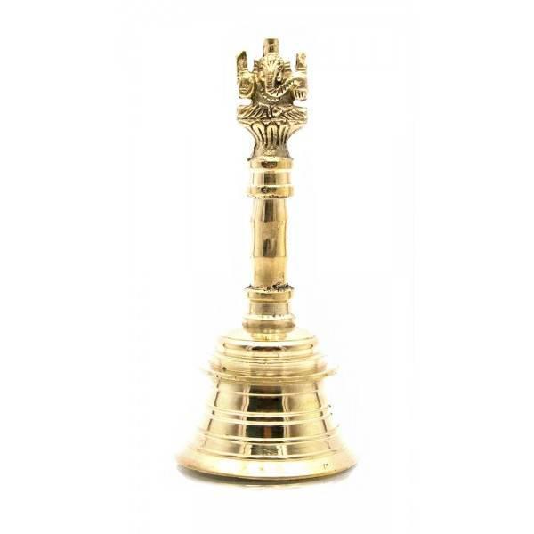 """Колокольчик ручной бронзовый """"Ганеша"""" (d-5.5,h-12.5 см) ( 23511)"""