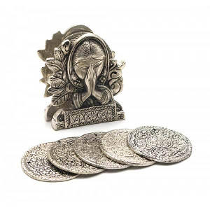 "Подстаканники ""Девушка "" (н-р 6 шт) металл (10,5х8,5х4 см)(Непал) ( 25924)"