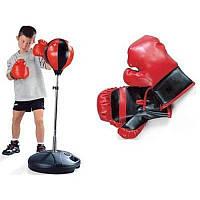 Детский боксерский спортивный набор с регулируемой стойкой