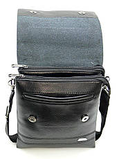Мужская сумка мессенджер DIWEILU 22х26х6 вертикальная экокожа м Е1856-3ч., фото 3