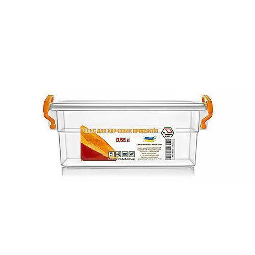 Контейнер для еды  Народный продукт объём 0.95 л с ручками