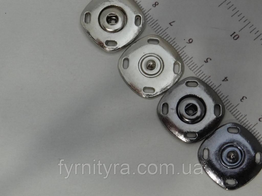 Кнопка D25 нікель, темний нікель