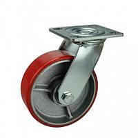Поворотний діаметр 150 мм чавун/поліуретан кульковий підшипник навантаження 400 кг
