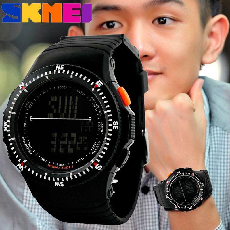 • Оригинал! Skmei(Скмей) 0989 Black  | Cпортивные мужские часы !