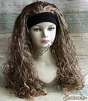 Искусственный парик милировка на повязке с подкладкой, цвет: светло-русый, длина: 55 см