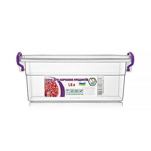 Контейнер для еды  Народный продукт  объём 1.6 л с ручками