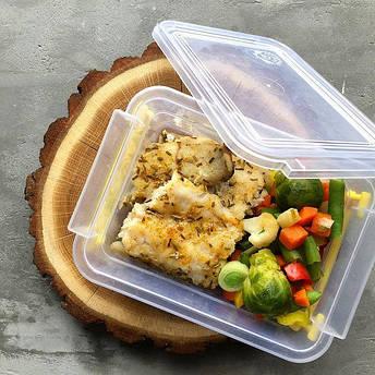 Контейнер для еды  Народный продукт  объём 1.6 л с ручками , фото 2