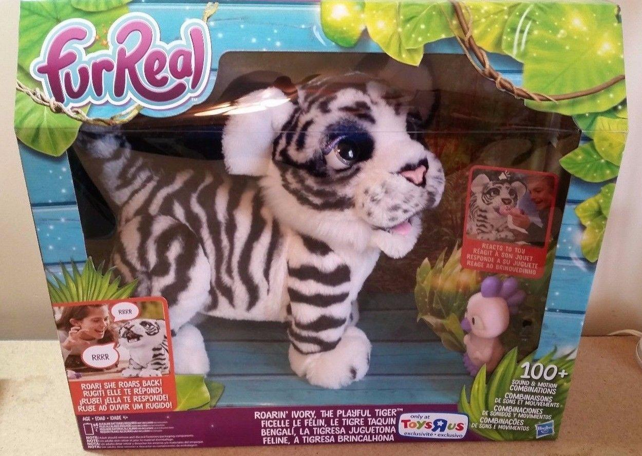 Интерактивный тигрёнок Ивори, FurReal Roarin' Ivory, The Playful Tiger, Hasbro Оригинал из США