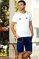 Мужская пижама, костюм для дома и отдыха футболка и шорты Sahinler 21798