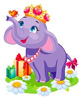 """Вирубка велика """"Слоненя"""" 47х38см"""