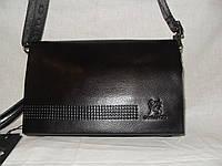 Барсетка клатч мужская Gorangd 9914-2 черная эко-кожа