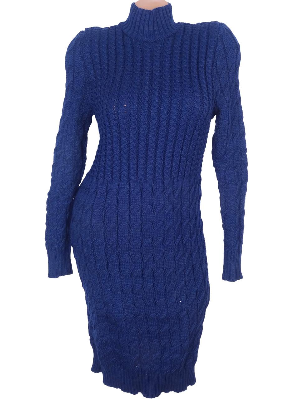 Эластичное вязаное платье  (в расцветках)