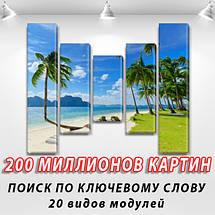 Картины на кухню фото, на Холсте син., 80x100 см, (80x18-2/55х18-2/40x18), фото 2
