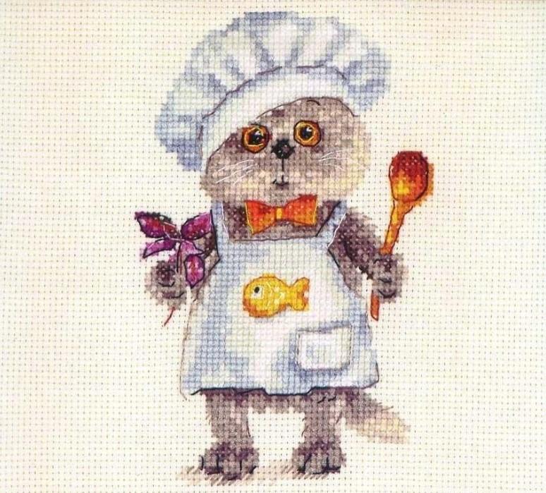 Набір для вишивки хрестом Аліса 0-182 «Басик шеф кухар»