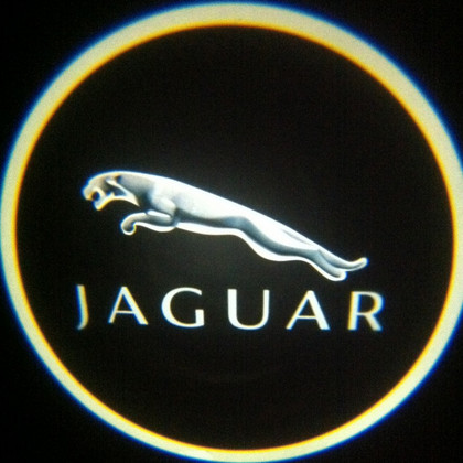Подсветка логотипа авто на двери Jaguar
