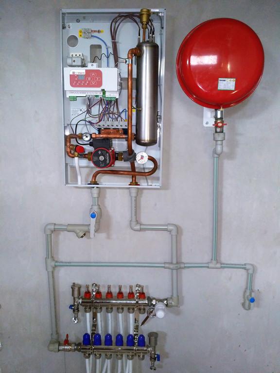 Установка и подключение электрокотла